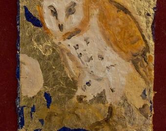 Barn Owl Gold Leaf