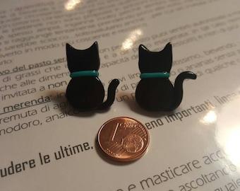 Earrings black cats