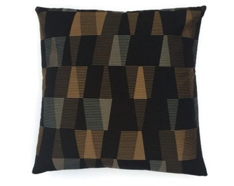 "Maharam geometric modern accent pillow (both sides) 17"" x 17"" with feather/down insert"