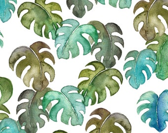 A4 Art Print Illustration, Tropical Leaves, 29,7x21 cm, Watercolor