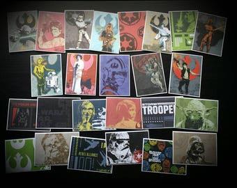 25 Handmade Star Wars Cards and Envelopes / Star Wars / Cards and Envelopes / Star Wars Stationary / R2-D2 / C-3PO / Chewbacca / Darth Vader