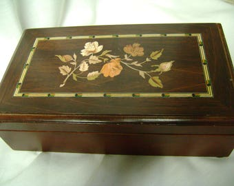 Jewelry Box Vintage Japan Gorgeous Cream Lining Ring Holder