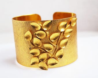 18 KT. Gold Plated Cuff Bracelet