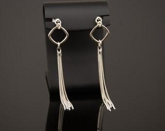 Tassel earrings. Sterling silver tassel earrings.