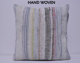 kilim pillow 24x24 large pillow case big decorative pillow euro sham cover 24x24 throw pillow large bohemian pillow large pillow white A1219