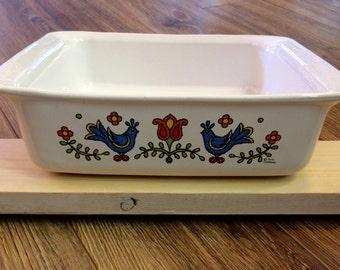 Friendship Bluebird Corningware Baking Dish