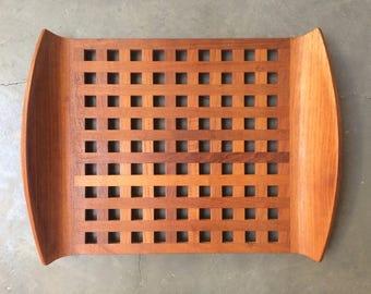 Jens Quistgaard Dansk Designs Teak Lattice Tray