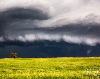 Nebraska Landscape Photography Art Print, Nature Nebraska, Nebraska Picture, Plains Storm, Nature Storm, Nature Fine Art, Western Storm