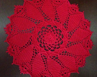 "12"" Round Red Windsor Doily"