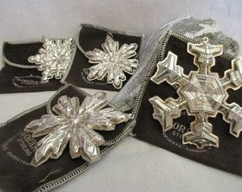 Vintage GORHAM Sterling Snowflakes