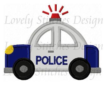 Police Car Applique Machine Embroidery Design NO:6068