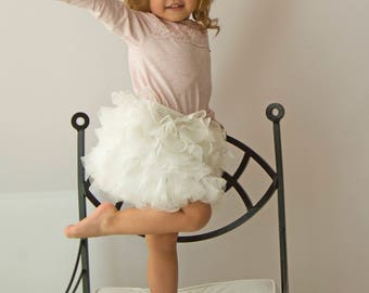 Tulle and Lace Baby Girl Tutu  Skirt for Flower Girls, Birthdays Party