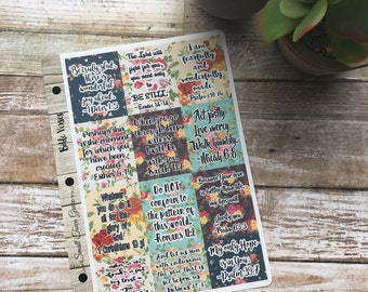 Planner Bible Verse Stickers- great for all planners- Erin Condren, Emily Ley, Limelife, Plum Paper, Inkwell, Filofax, Kikki K, etc