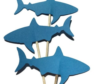 Toppers g teau requin etsy for Requin decoration