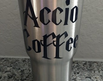 Accio Coffee Decal | Harry Potter Yeti Decal | Accio Coffee RTIC Decal |  Customized Accio Coffee Decal
