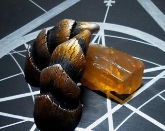 3 inch Medium Horns - Golden Opal Horns - Pan, Faun, Satyr, Demon, Dryad