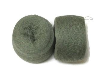 SAGE HEATHER 100%  Merino Wool 3954 yards recycled yarn