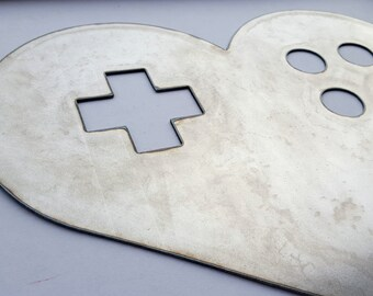 Console Heart Metal Sign