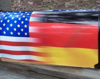 American-German Flag Mailbox