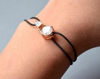 Zicon stones black bracelet