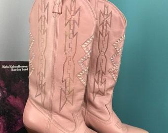 Vintage Dan Post cowboy boots, size 7