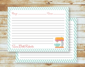 Personalized Recipe Cards / Mixer