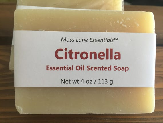 Citronella Essential Oil Cold Scented Process Soap--50% OFF