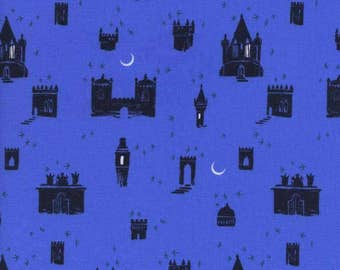 From Porto with Love Evora Blue Castle Cotton and Steel Fabric 2035-01 BTY