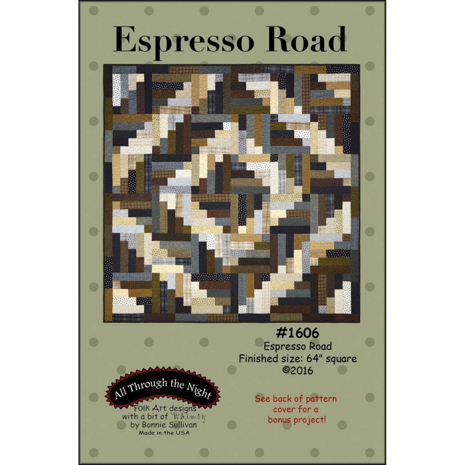 Espresso Road Flannel Quilt Pattern All Through the Night Bonnie ... : all through the night quilt patterns - Adamdwight.com
