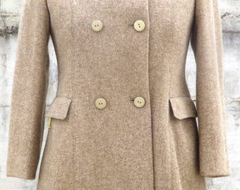 SALE Free Shipping Wool Blend 60s Vintage Coat Size XS