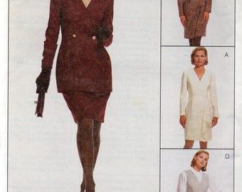 McCall's Dress Alternatives Pattern 7327 JACKET DRESS SKIRT & Vest Misses Sizes 10 12 14