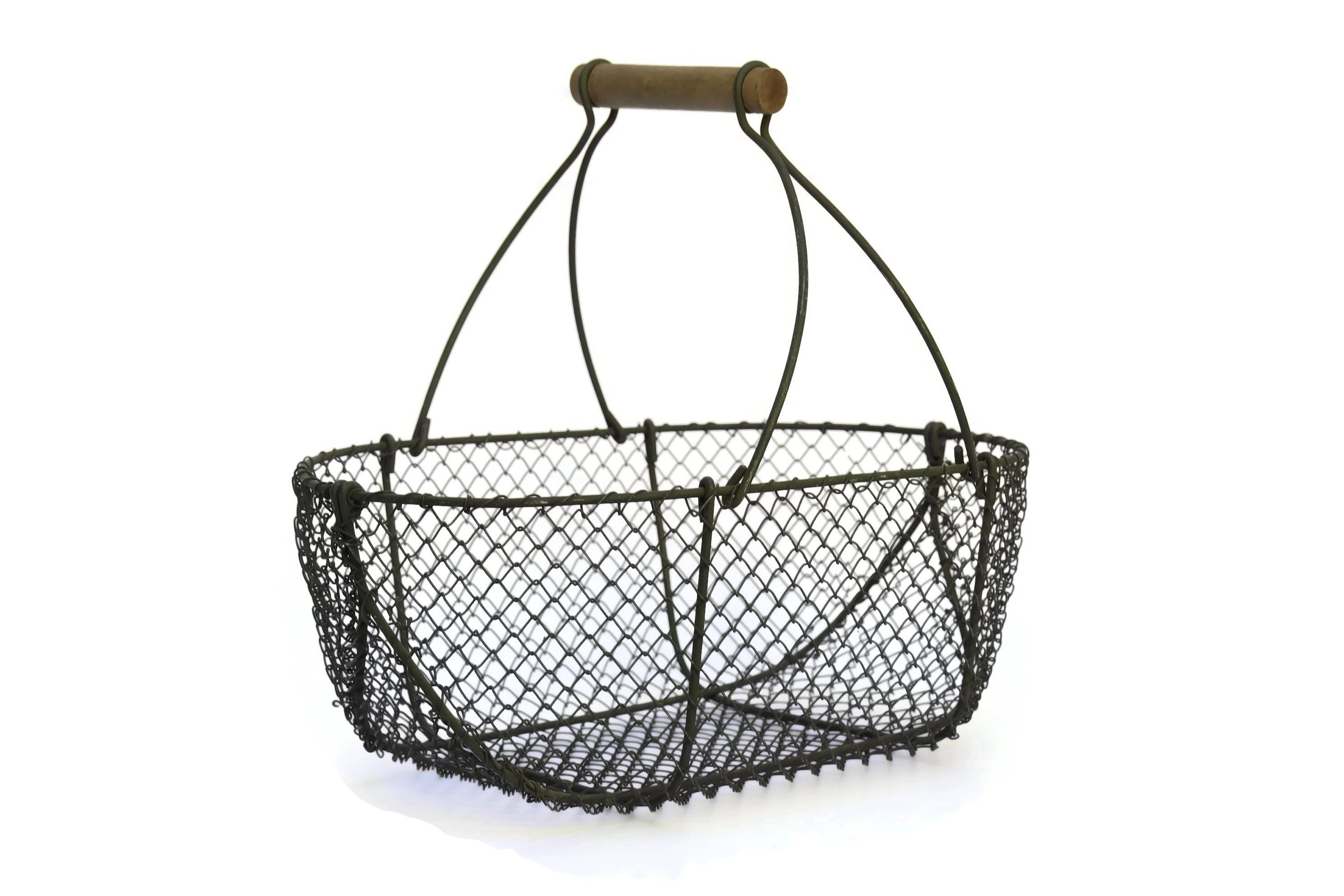 vintage french metal wire asparagus basket  french