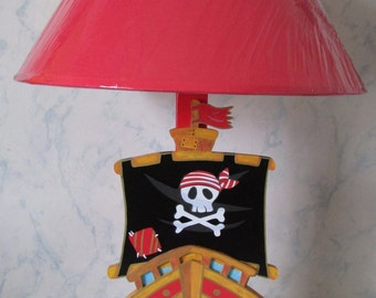 "Child lamp wooden ""pirate ship"""