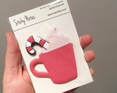 Candy Cane Hot Chocolate Sticky Notes