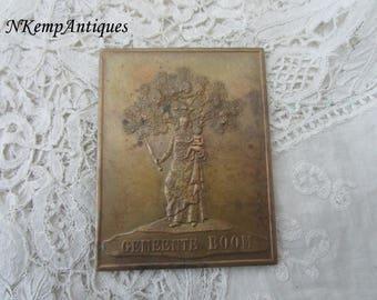 Antique religious plaque