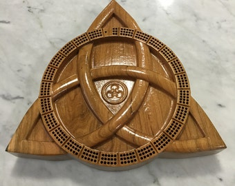 Celtic Cribbage Board