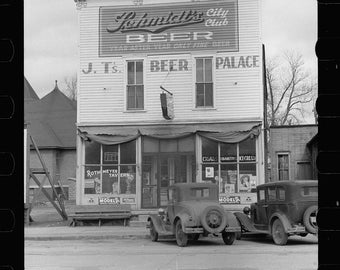 Scranton, Iowa, Beer Palace, Schmidt Beer, Old Photo Print