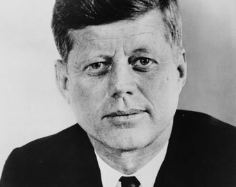 John. F Kennedy, Portrait, Old Photo Reproduction
