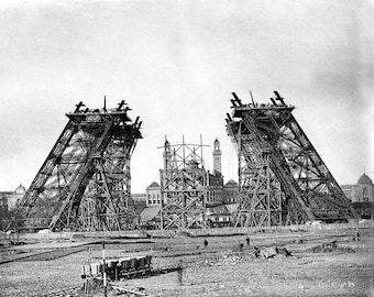 Construction of the Eiffel Tower in Paris, France