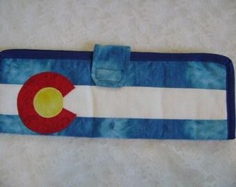 Colorado Flag Flat Iron case, Flat Iron Holder, Travel, Curling Iron Soft case, Vacation
