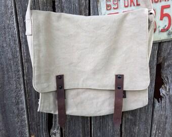 Khaki, Vintage Canvas Messenger Bag, Cross Body Bag, Unisex Bag, Shoulder Bag, Military Bag, Tech Bag,Medic Bag,Book Bag, ipad bag, tote bag