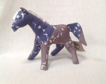 Baby toy organic printed horse