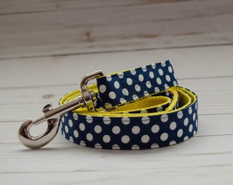 "5 foot long Dog Leash in ""Maize Daisy"" to match Flower Collars"
