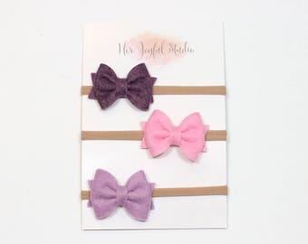 easter headbands - baby headband set - newborn headbands - baby girl - baby bow headbands - baby girl headband - LIV