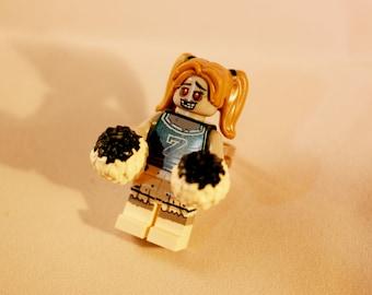Adjustable zombie cheerleader lego ring