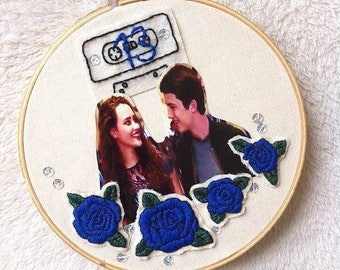 13 reasons why/Wall decor/13 reasons why wall art/13 reasons why embroidery/Collage/