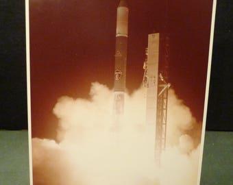 NASA Delta 136 launch 11/22/77 Official Photo