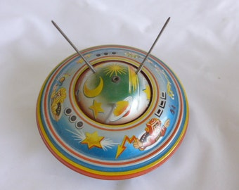 1950's/60's Apollo Flying Saucer NR 562 West Germany Tin Friction Toy Mint