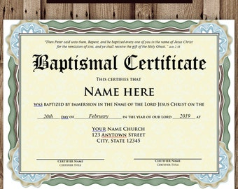 editable baptism certificate template pdf great home inteiror
