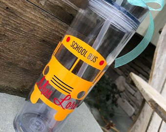 bus driver gift personalized bus driver cup personalized bus driver water bottle bus driver end of year gift bus driver appreciation